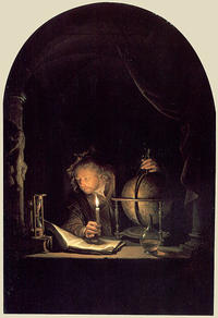410px-Dou, Gerard - Astronomer by Candlelight - c. 1665
