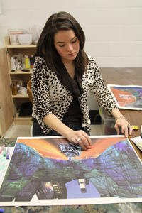 Cristina Keiley &#039;10, Mixed Media Workshop with Grace Knowlton