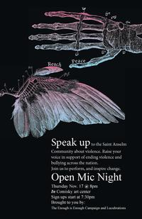 Open Mic Poster by Chris Cadena