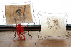 Stitched Portraits/drawings 